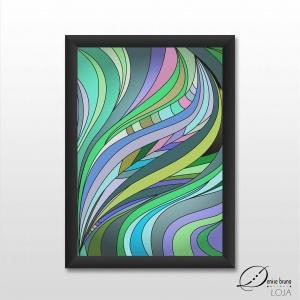 Pôster decorativo ilustrado - Abstração intensa
