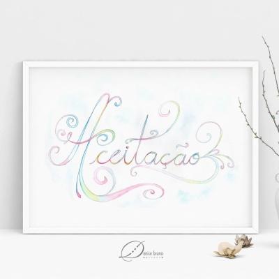 Lettering - ilustracao - aceitacao