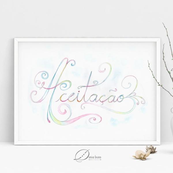 Lettering aquarelado