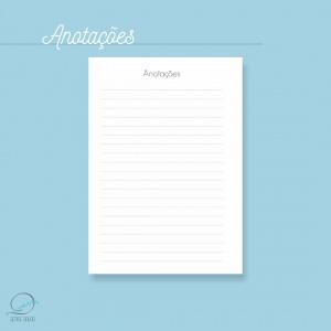 Mini agenda A6 2020 para impressão - anotações