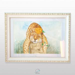 quadro dona maria pintada - oncinha dormindo