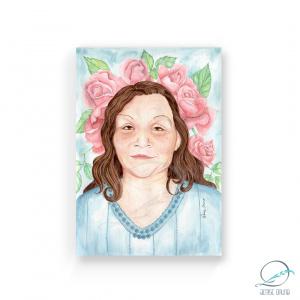Aquarela ilustração personalizada de rosto